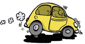 coche frenando