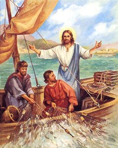 Resultado de imagen para IMAGENES jesus barca de pescadores